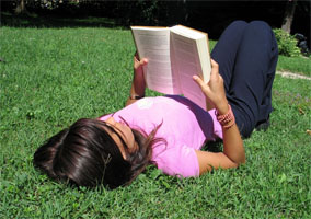 reading_outside