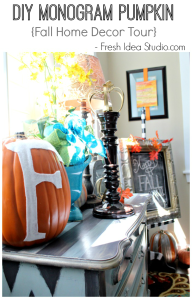 Easy-DIY-Monogram-Pumpkin-and-lots-of-other-great-decorating-ideas-for-Fall-at-Fresh-Idea-Studio.com_
